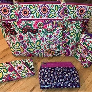 Vera Bradley Retired Vivalaver/Frill Bag Bundle